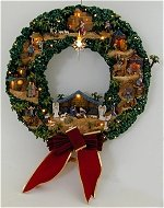 Nativity Village Wreath